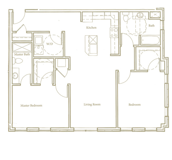 Two bedroom - Unit B - Apt 14