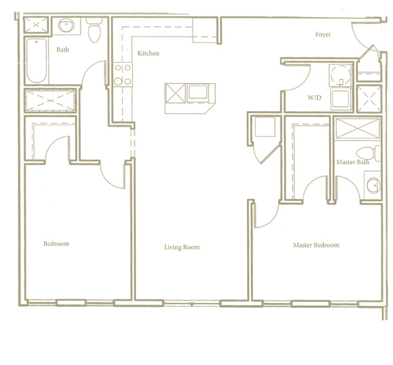 Two bedroom - Unit B1 - Apt 32