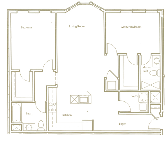 Two bedroom - Unit B2 - Apt 30