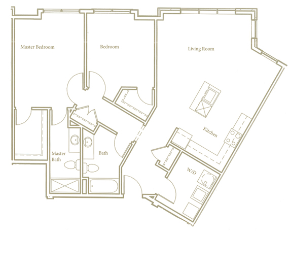 Two bedroom - Unit C - Apt 28