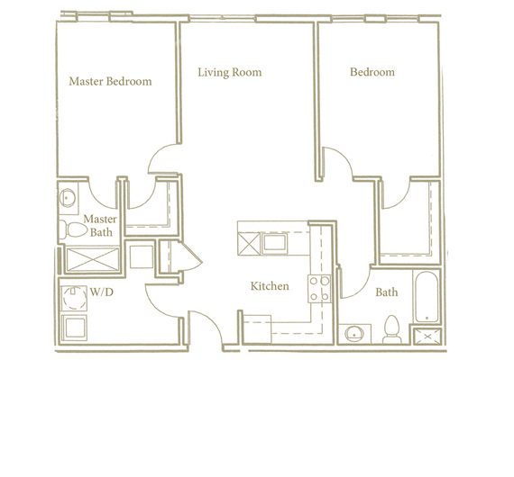 Two bedroom - Unit D1 - Apt 20