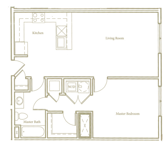 One bedroom - Unit E3 - Apt 16