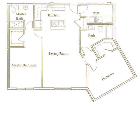 Two bedroom - Unit F - Apt 40